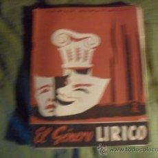 Coleccionismo de Revista Temas Españoles: TEMAS ESPAÑOLES, EL GENERO LIRICO Nº 91. Lote 38371408