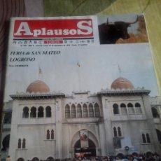 Coleccionismo de Revista Temas Españoles: REVISTAS DE TOROS APLAUSOS. FERIA DE SAN MATEO LOGROÑO. SEPTIEMBRE 1986. Lote 42646303