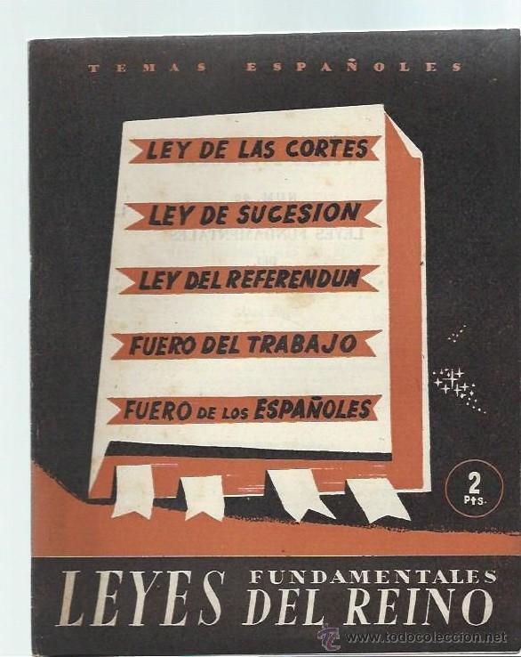 TEMAS ESPAÑOLES Nº 60 LEYES FUNDAMENTALES DEL REINO, PUBLICACIONES ESPAÑOLAS MADRID 1953 (Papel - Revistas y Periódicos Modernos (a partir de 1.940) - Revista Temas Españoles)
