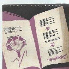 Coleccionismo de Revista Temas Españoles: TEMAS ESPAÑOLES Nº 31, SUS POETAS CONTEMPORÁNEOS, PUBLICACIONES ESPAÑOLAS MADRID 1953. Lote 43961353