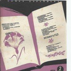 Coleccionismo de Revista Temas Españoles: TEMAS ESPAÑOLES Nº 31 SEIS POETAS CONTEMPORÁNEOS, PUBLICACIONES ESPAÑOLAS MADRID 1953. Lote 43961435