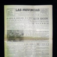 Coleccionismo de Revista Temas Españoles: LAS PROVINCIAS DE VALENCIA.. MUERTE DE FRANCO. 20 NOVIEMBRE 1975. Lote 45650530