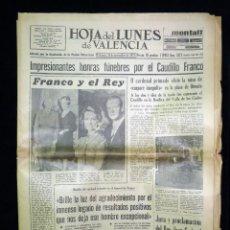 Coleccionismo de Revista Temas Españoles: HOJA DEL LUNES DE VALENCIA.. MUERTE DE FRANCO. 24 NOVIEMBRE 1975. Lote 45650537