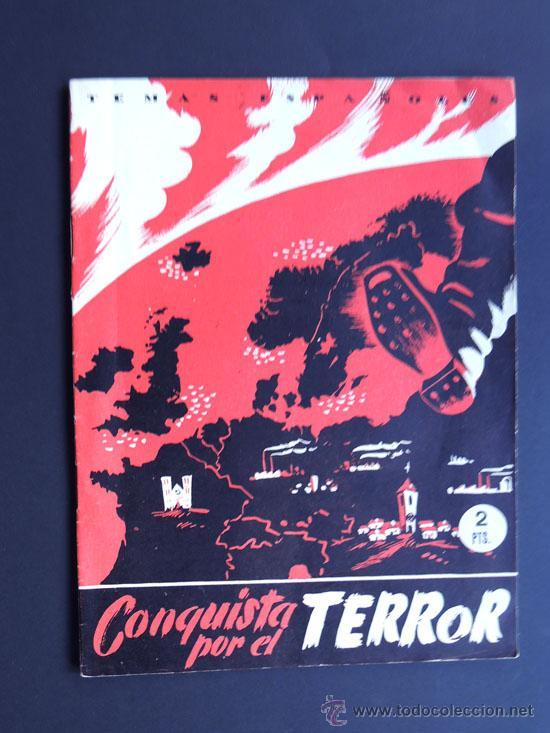 CONQUISTA POR EL TERROR/ LELAND STOWE / TEMAS ESPAÑOLES 1952 / LOS PAISES CONUNISTAS (Papel - Revistas y Periódicos Modernos (a partir de 1.940) - Revista Temas Españoles)