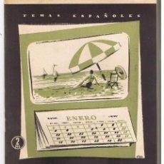 Colecionismo da Revista Temas Españoles: TEMAS ESPAÑOLES. Nº 291. ALICANTE. ANTONIO MACIA S. PUBLICACIONES ESPAÑOLAS 1957. (RF.C/T). Lote 48494013