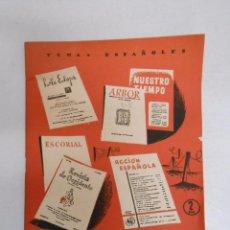 Coleccionismo de Revista Temas Españoles: TEMAS ESPAÑOLES. Nº 215. REVISTAS CULTURALES DE POSTGUERRA. FLORENTINO PEREZ EMBID. TDK169. Lote 49448991