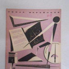 Coleccionismo de Revista Temas Españoles: TEMAS ESPAÑOLES. Nº 105. FORMACIÓN PROFESIONAL. VALENTIN FERNANDEZ CUEVAS. TDK169. Lote 49449746