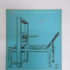 Coleccionismo de Revista Temas Españoles: TEMAS ESPAÑOLES. Nº 268. LA IMPRENTA EN ESPAÑA. EMILIO FORNET ASENSI. TDK169. Lote 49449922