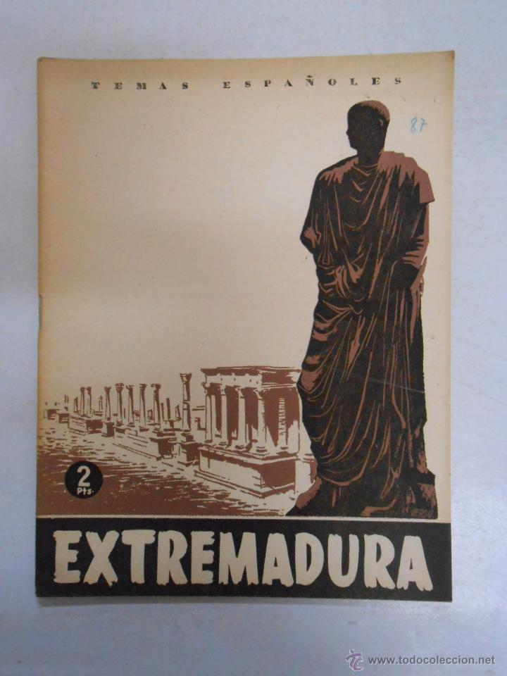 TEMAS ESPAÑOLES. Nº 87. EXTREMADURA. BERTA PENSADO. TDK169 (Papel - Revistas y Periódicos Modernos (a partir de 1.940) - Revista Temas Españoles)