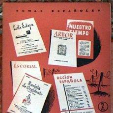 Coleccionismo de Revista Temas Españoles: TEMAS ESPAÑOLES Nº 215, REVISTAS CULTURALES DE POSTGUERRA 1956 30 PAGINAS. Lote 49478944