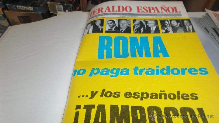 LOTE DEL HERALDO ESPAÑOL ENCUADERNADO COL LOS Nº 21 AL 30 DEL 1980 (Papel - Revistas y Periódicos Modernos (a partir de 1.940) - Revista Temas Españoles)
