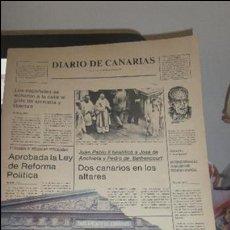 Coleccionismo de Revista Temas Españoles: DIARIO DE CANARIA PARLAMENTO DE C. BIBLIOTECADEL ATLANTICO CON 210 PAGINAS -UIS ORTEGA ABRAHAM. Lote 49911543