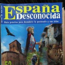 Coleccionismo de Revista Temas Españoles: REVISTA ESPAÑA DESCONOCIDA AÑO V Nº 43,MOUGER,ALCALA LA REAL SEMANA SANTA MALAGA,52 DESTINOS.. Lote 51738931