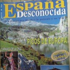 Coleccionismo de Revista Temas Españoles: REVISTA ESPAÑA DESCONOCIDA AÑO IV Nº 34,CARAVACA,ALAVA DE TORRE EN TORRE,PICOS DE EUROPA.. Lote 51803400