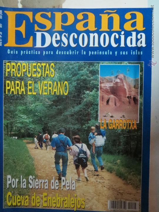REVISTA ESPAÑA DESCONOCIDA AÑO III Nº 25,POR LA SIERRA DE PELA,LA GARROTXA. (Papel - Revistas y Periódicos Modernos (a partir de 1.940) - Revista Temas Españoles)