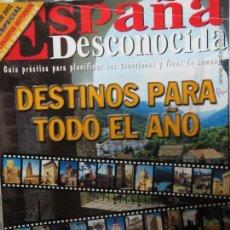 Coleccionismo de Revista Temas Españoles: REVISTA ESPAÑA DESCONOCIDA AÑO VII Nº 66 ESPECIAL CONJUNTOS HISTORICOS,FITUR 2001.. Lote 51961482