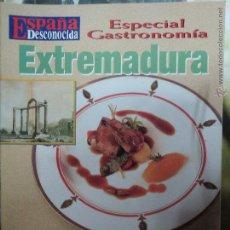 Coleccionismo de Revista Temas Españoles: REVISTA ESPAÑA DESCONOCIDA ESPECIAL GASTRONOMIA EXTREMADURA,CONQUISTANDO PALADARES.. Lote 51961744