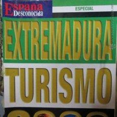 Coleccionismo de Revista Temas Españoles: REVISTA ESPAÑA DESCONOCIDA ESPECIAL EXTREMADURA TURISMO 2000.. Lote 51961792