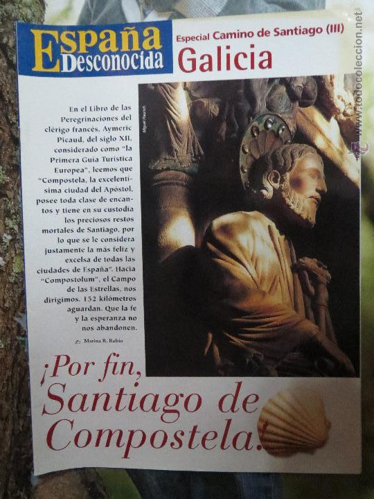REVISTA ESPAÑA DESCONOCIDA ESPECIAL CAMINO SANTIAGO Nº III,GALICIA POR FIN SANTIAGO DE COMPOSTELA. (Papel - Revistas y Periódicos Modernos (a partir de 1.940) - Revista Temas Españoles)