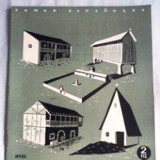 Coleccionismo de Revista Temas Españoles: LA CASA TRADICIONAL EN ESPAÑA. TEMAS ESPAÑOLES Nº 20, 1952. Lote 52611541