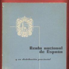 Coleccionismo de Revista Temas Españoles: RENTA NACIONAL DE ESPAÑA BANCO BILBAO AÑO1964 140PAGINAS LE593. Lote 52646945