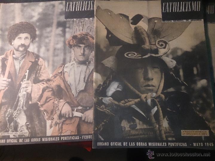CATOLICISMO LOTE DE 5 REVISTAS: ENERO, FEBRERO MARZO ABRIL Y MAYO 1945 (Papel - Revistas y Periódicos Modernos (a partir de 1.940) - Revista Temas Españoles)