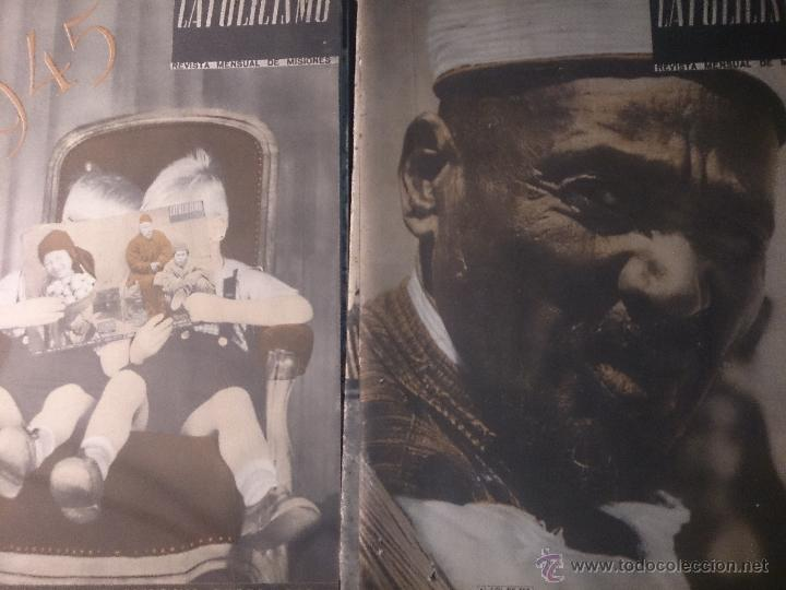 Coleccionismo de Revista Temas Españoles: CATOLICISMO LOTE DE 5 REVISTAS: ENERO, FEBRERO MARZO ABRIL Y MAYO 1945 - Foto 2 - 52718645