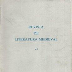 Coleccionismo de Revista Temas Españoles: REVISTA DE LITERATURA MEDIEVAL VII . ALCALA DE HENARES 1995. . AUTOMATAS Y AMADIS GAULA. GREDOS. Lote 54007344