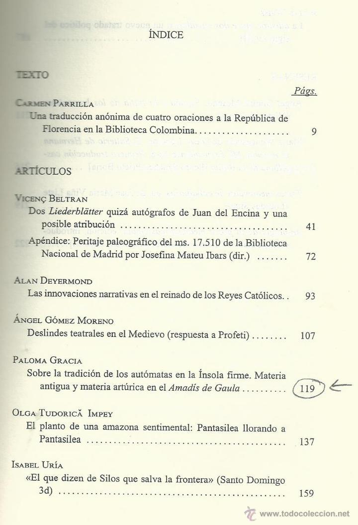 Coleccionismo de Revista Temas Españoles: REVISTA DE LITERATURA MEDIEVAL VII . ALCALA DE HENARES 1995. . AUTOMATAS Y AMADIS GAULA. GREDOS - Foto 2 - 54007344