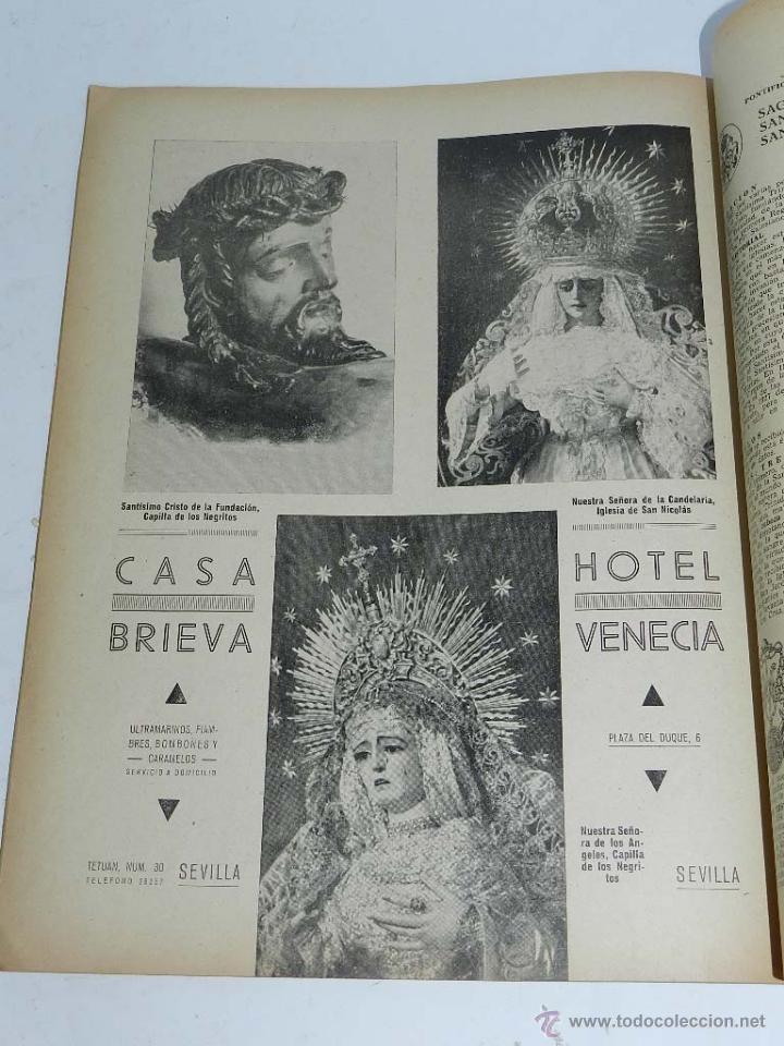 Coleccionismo de Revista Temas Españoles: CALVARIO - REVISTA DE SEMANA SANTA - SEVILLA 1941, PORTADA ILUSTRADA CON BAENA, 60 PAG. APROX, MIDE - Foto 2 - 54739841