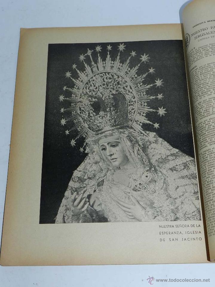 Coleccionismo de Revista Temas Españoles: CALVARIO - REVISTA DE SEMANA SANTA - SEVILLA 1941, PORTADA ILUSTRADA CON BAENA, 60 PAG. APROX, MIDE - Foto 3 - 54739841