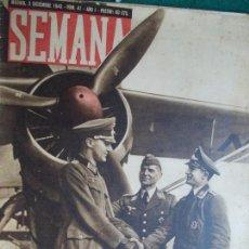 Coleccionismo de Revista Temas Españoles: REVISTA SEMANA 3 DE DICIEMBRE DE 1.940. Lote 55227830