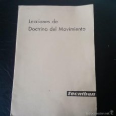 Coleccionismo de Revista Temas Españoles: DOCTRINA DEL MOVIMIENTO, PUNTOS FUNDACIONES DE LA FALANGE, FUERO DEL TRABAJO Y NOCIONES SINDICALES. Lote 56085545