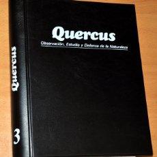 Coleccionismo de Revista Temas Españoles: TOMO 3 - REVISTA QUERCUS (Nº 25 AL 36) - OBSERVACIÓN, ESTUDIO Y DEFENSA DE LA NATURALEZA, 1987/1989. Lote 59529699