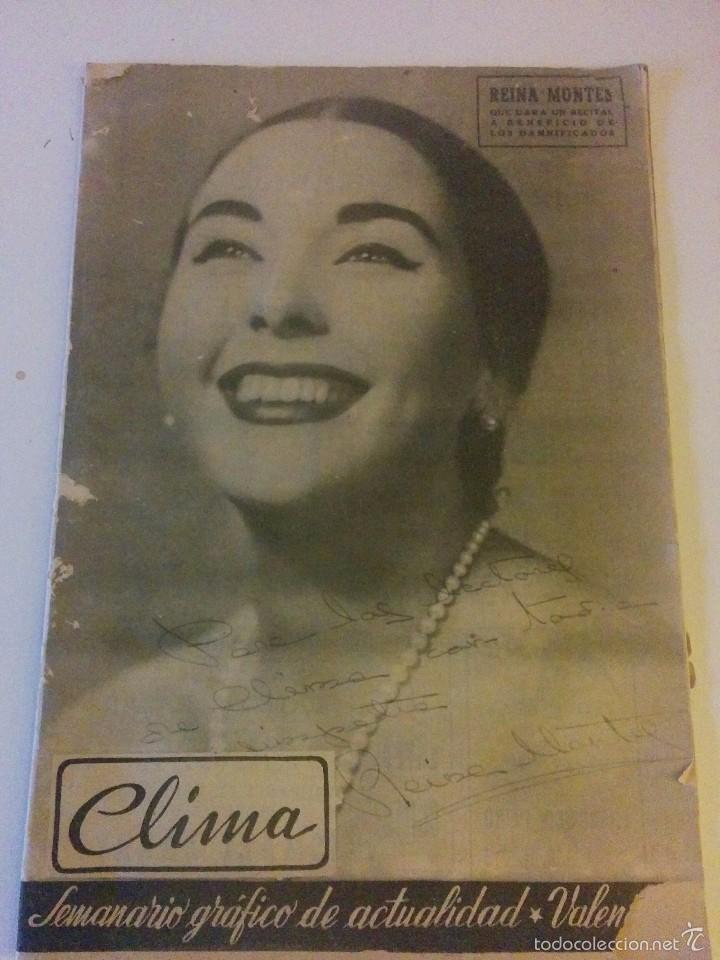 ANTIGUA REVISTA CLIMA 1957 (Papel - Revistas y Periódicos Modernos (a partir de 1.940) - Revista Temas Españoles)