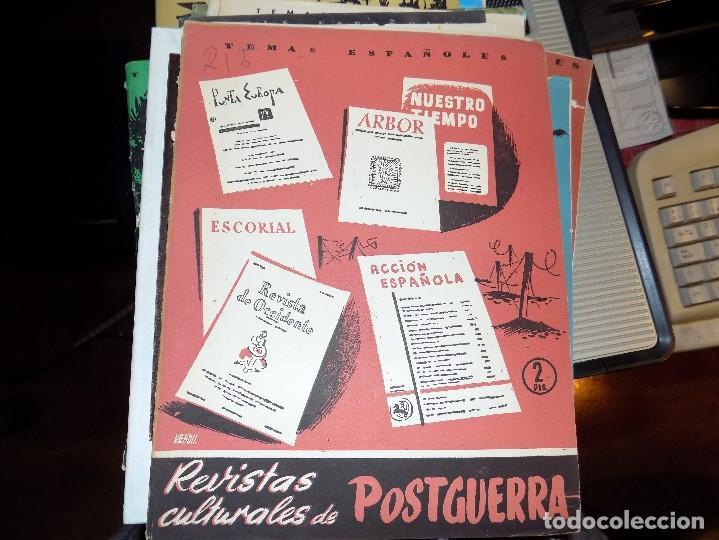 REVISTAS CULTURALES DE POSTGUERRA. NUM 215. FLORENTINO PEREZ EMBID. MADRID, 1956 (Papel - Revistas y Periódicos Modernos (a partir de 1.940) - Revista Temas Españoles)