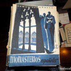 Coleccionismo de Revista Temas Españoles: MONASTERIOS ESPAÑOLES. NUM 132. LUIS AGUIRRE PRADO. MADRID, 1954. Lote 70356725