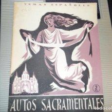 Coleccionismo de Revista Temas Españoles: AUTOS SACRAMENTOS. NUM 136. BERTA PENSADO. MADRID, 1954. Lote 70358925