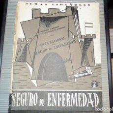 Coleccionismo de Revista Temas Españoles: EL SEGURO DE ENFERMEDAD. NUM 106. ALFREDO ISASI GARCÍA. MADRID, 1954. Lote 70359501