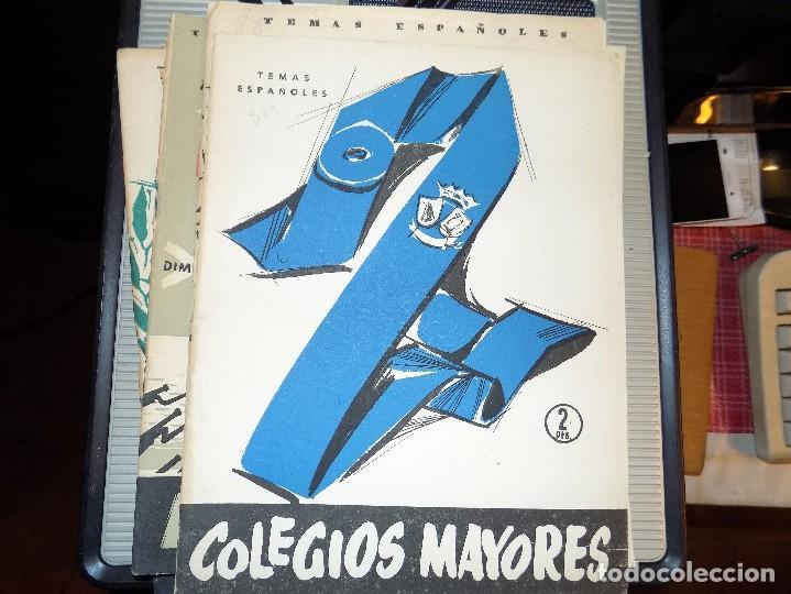 COLEGIOS MAYORES. NUM 319. CARLOS EGUIA. MADRID, 1957 (Papel - Revistas y Periódicos Modernos (a partir de 1.940) - Revista Temas Españoles)