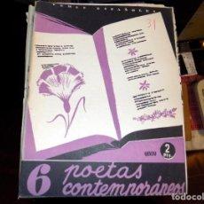 Coleccionismo de Revista Temas Españoles: 6 POETAS CONTEMPORÁNEOS. NUM 31. VICENTE G. MONTERO. MADRID, 1953. Lote 70440049