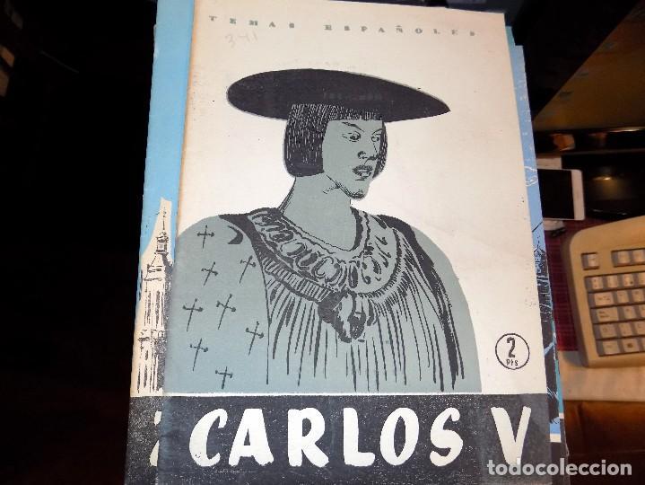 CARLOS V. NUM 341. MANUEL FERNANDEZ ALVAREZ. MADRID, 1957 (Papel - Revistas y Periódicos Modernos (a partir de 1.940) - Revista Temas Españoles)
