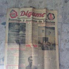 Coleccionismo de Revista Temas Españoles: ANTIGUO PERIÓDICO EL DÍGAME MUERTE DE MANOLETE 17 SEPTIEMBRE 1947. Lote 72852375
