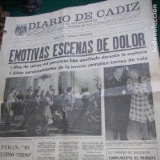Coleccionismo de Revista Temas Españoles: DIARIO DE CADIZ VIERNES 21 DE NOVIEMBRE 1.975. Lote 74326583