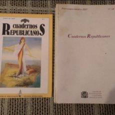 Coleccionismo de Revista Temas Españoles: CUADERNOS REPUBLICANOS. Lote 72725835