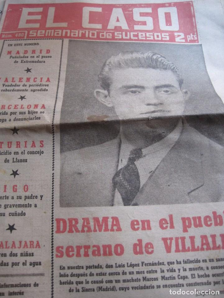 SEMANARIO DE SUCESOS EL CASO Nº 480 AÑO 1961 (Papel - Revistas y Periódicos Modernos (a partir de 1.940) - Revista Temas Españoles)