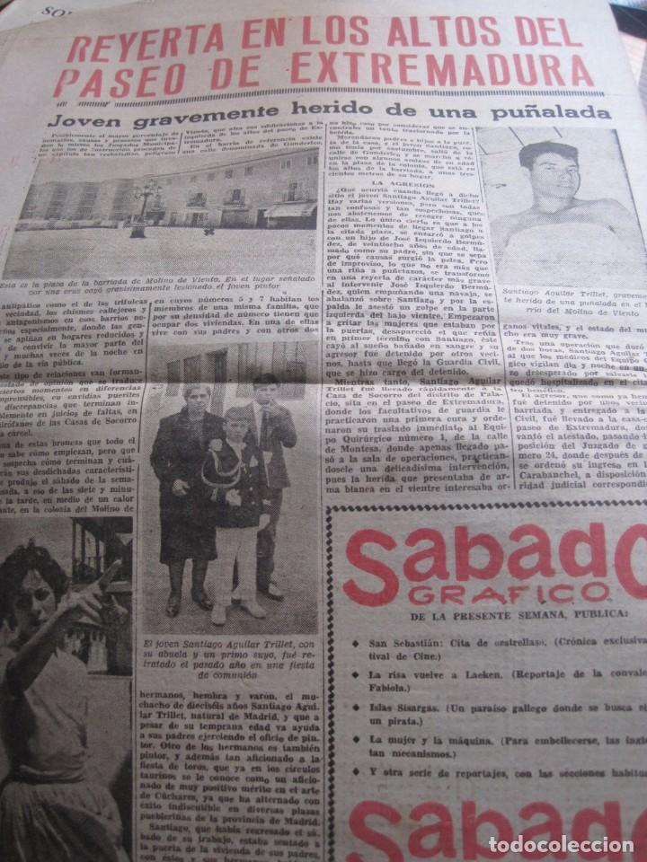 Coleccionismo de Revista Temas Españoles: SEMANARIO DE SUCESOS EL CASO Nº 480 año 1961 - Foto 2 - 80344405