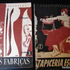 Coleccionismo de Revista Temas Españoles: REALES FÁBRICAS Y TAPICERÍA ESPAÑOLA. TEMAS ESPAÑOLES NºS 124 Y 172. Lote 83012972