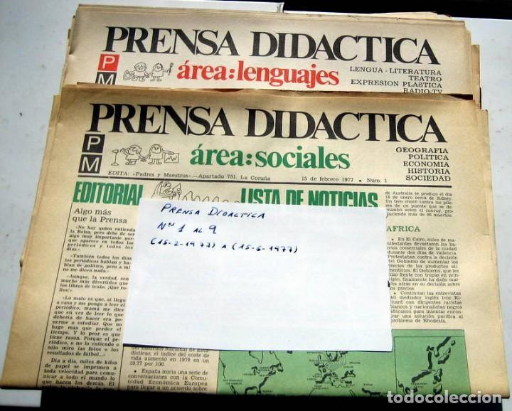 PRENSA DIDÁCTICA - Nº 1 AL 9 (Papel - Revistas y Periódicos Modernos (a partir de 1.940) - Revista Temas Españoles)