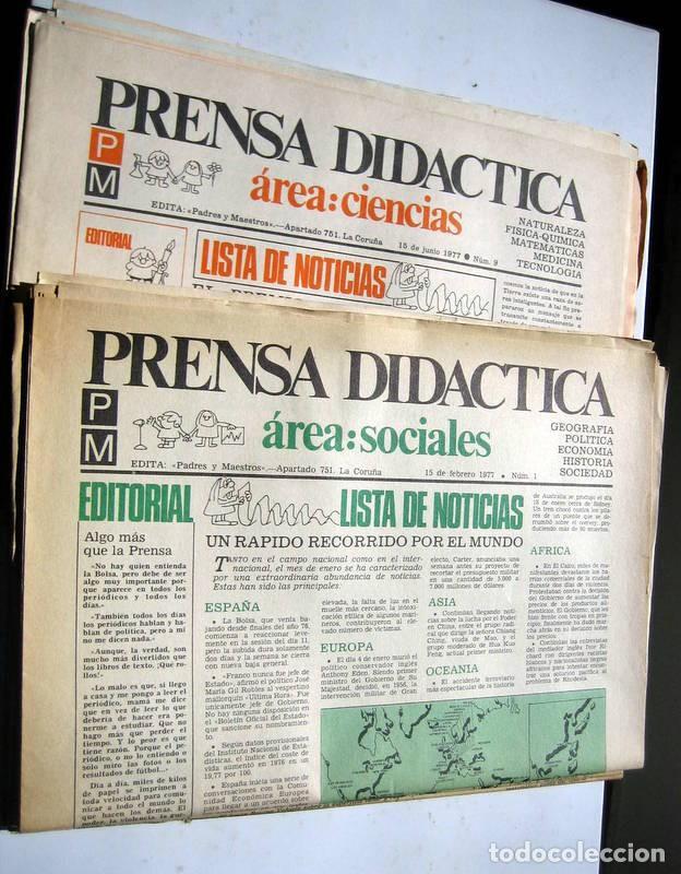 Coleccionismo de Revista Temas Españoles: PRENSA DIDÁCTICA - nº 1 al 9 - Foto 2 - 86094524